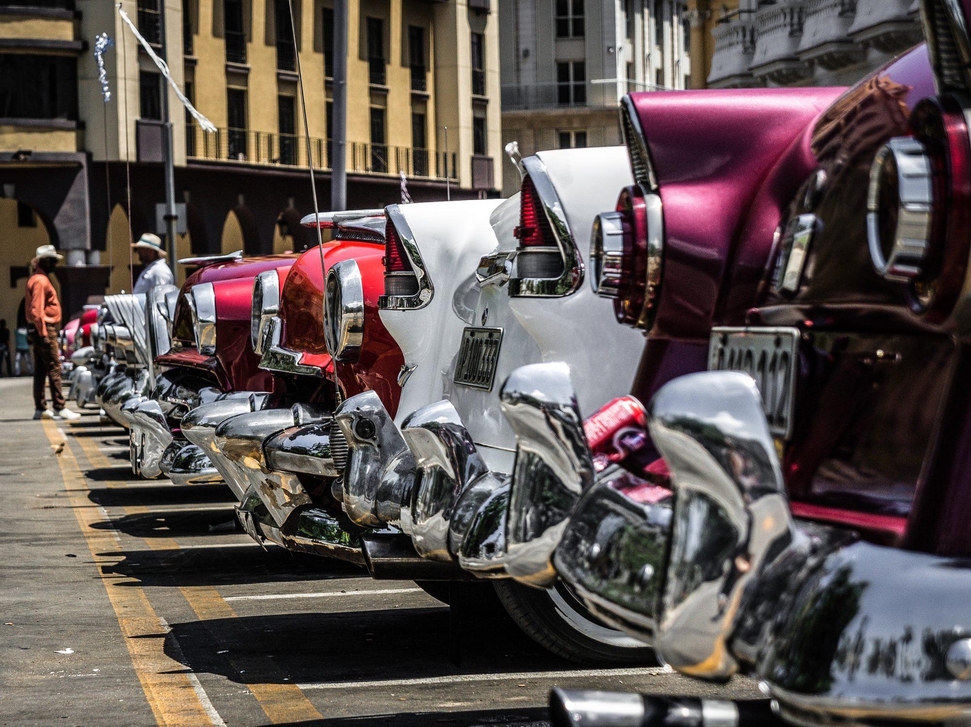 Vintage American cars in Havana Cuba on SelfishMe Travel LLC