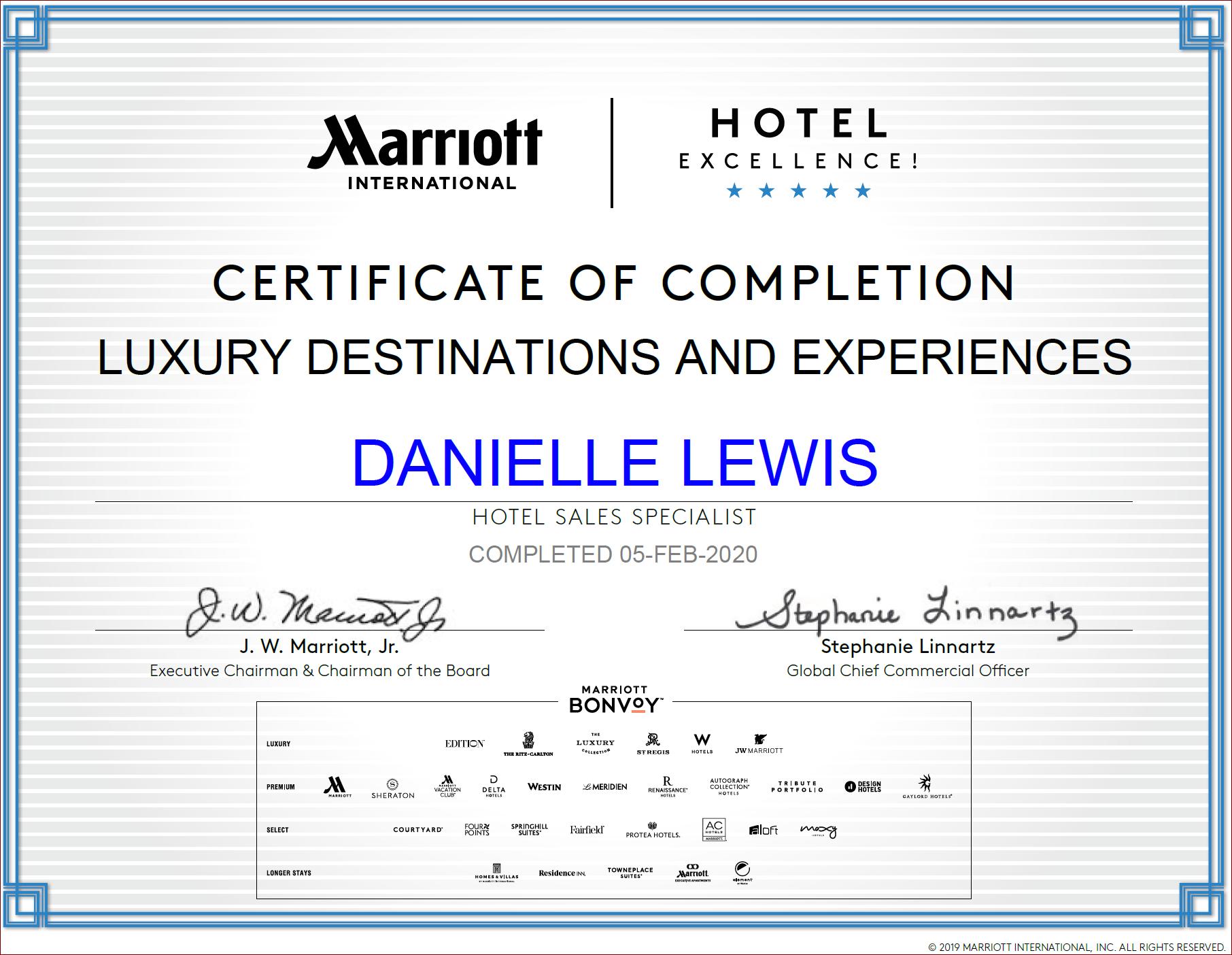 SelfishMe Travel - Marriott International Luxury Destinations and Experiences Certificate