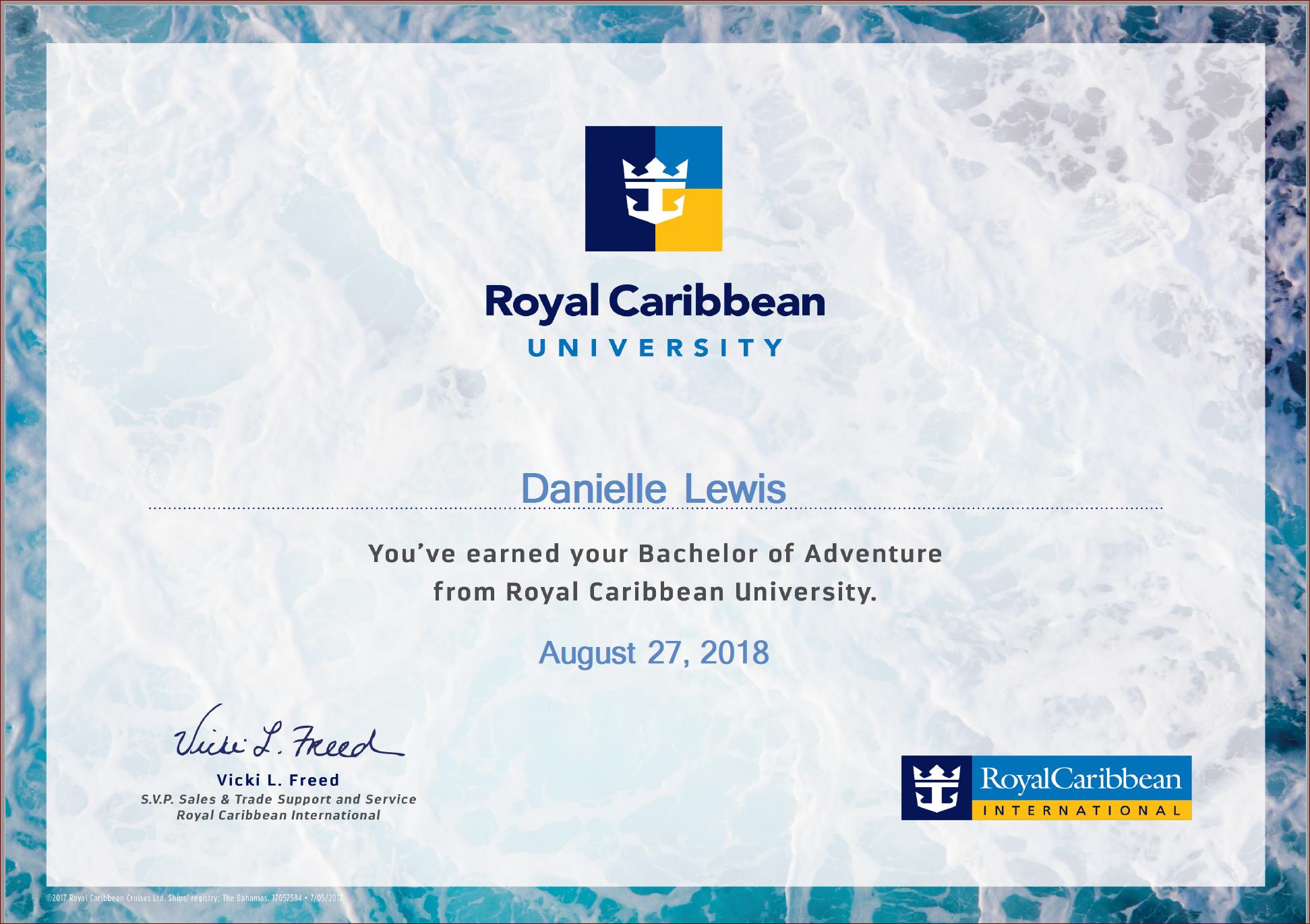 SelfishMe Travel - Royal Caribbean Cruise Line University Bachelor of Adventure