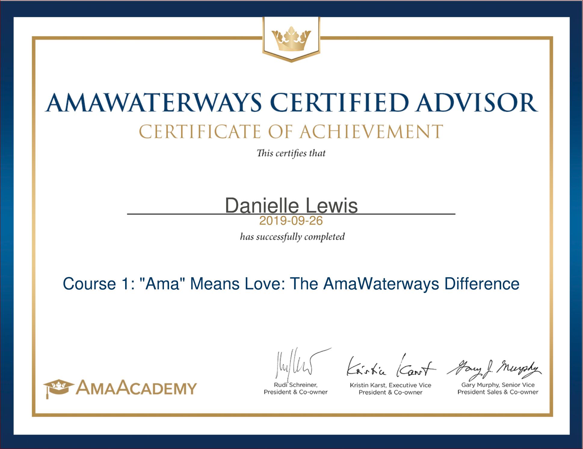SelfishMe Travel - AmaWaterways Certified Advisor
